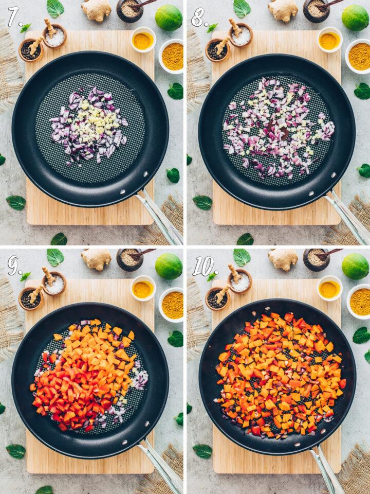 Gemüse-Pfanne mit Reis Rezept