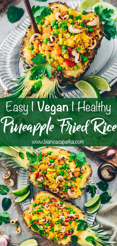 Pineapple Fried Rice (Easy, Vegan, Healthy)