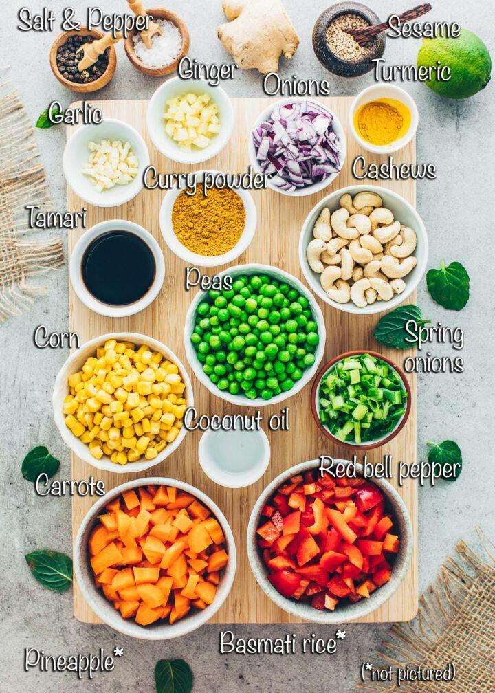 Pineapple Rice Recipe Ingredients