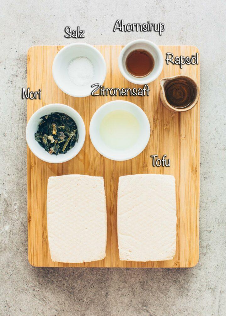 Zutaten für Tofu Fisch Nuggets