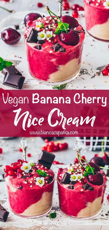 Banana Ice Cream, Cherry Nice Cream