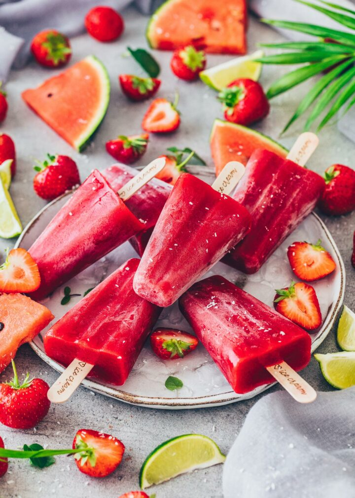 Erdbeer-Wassermelonen-Eis (Fruchteis)