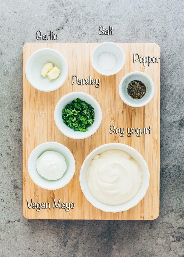 Garlic Dip Ingredients