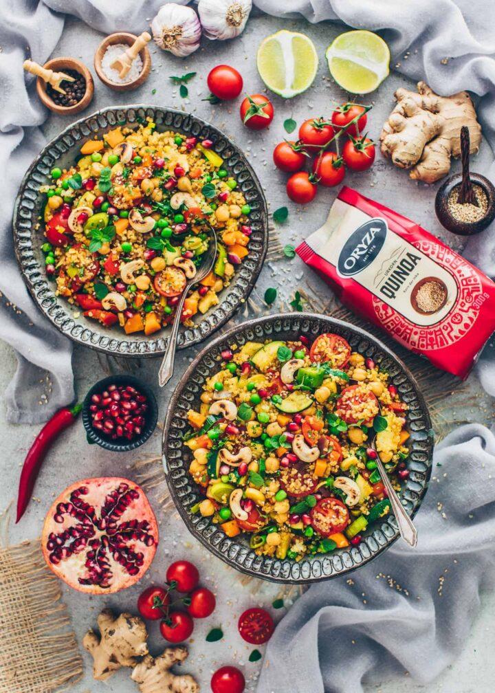 Marokkanische Gemüse-Pfanne mit Quinoa