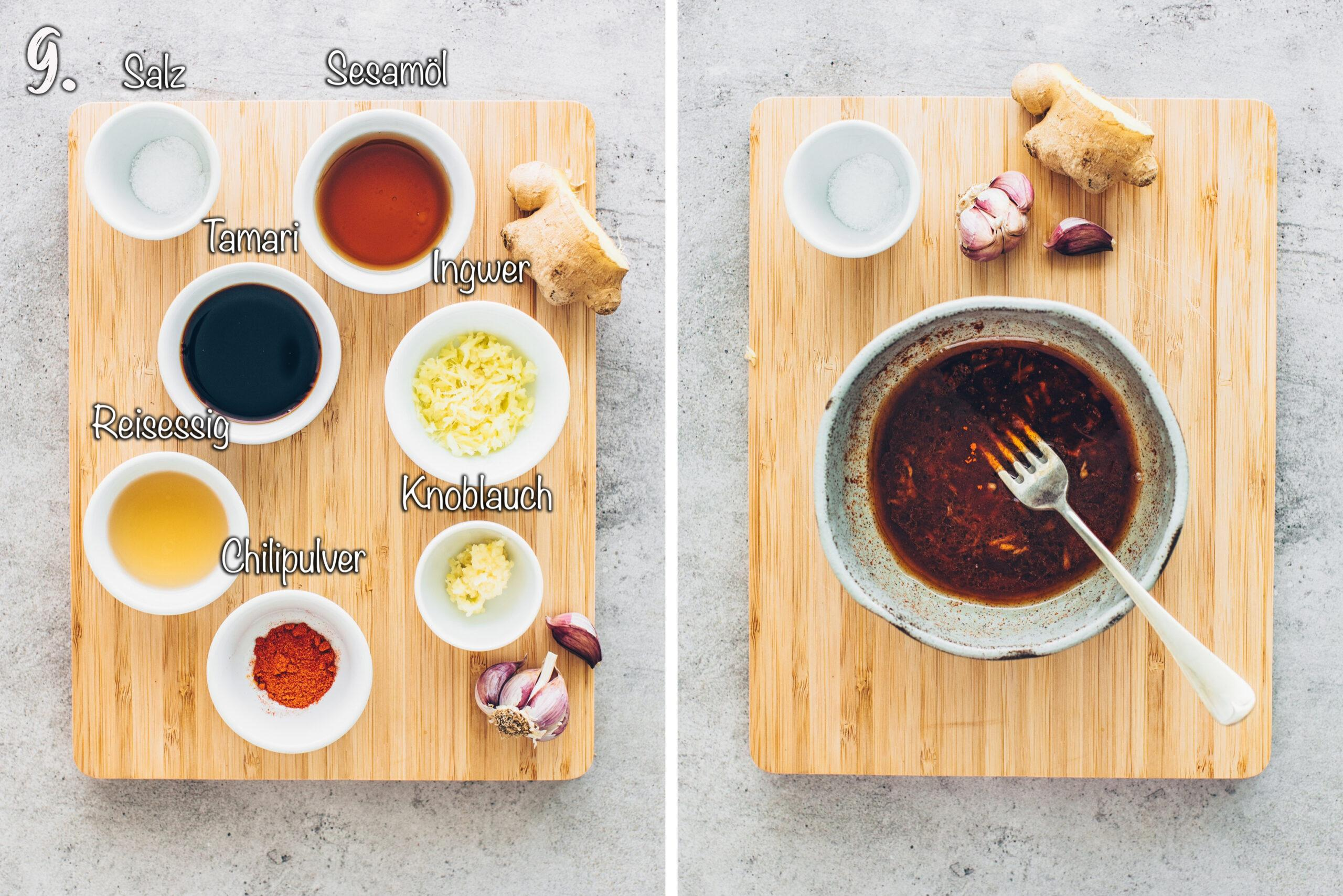 Marinade für veganen Thunfisch