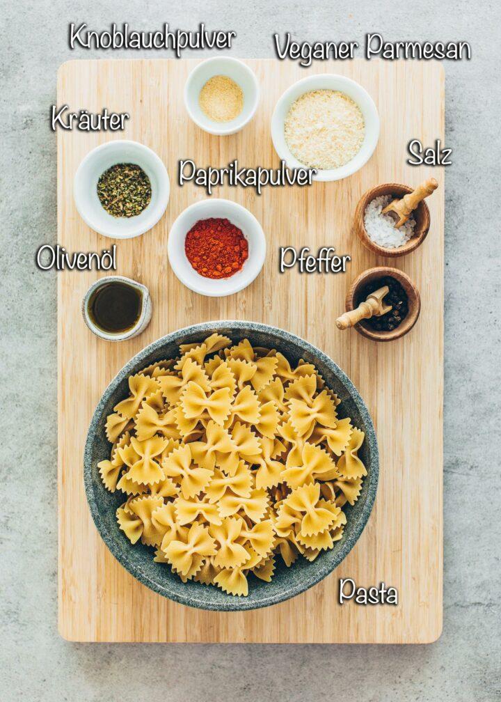 Pasta Chips Zutaten