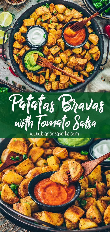 Patatas Bravas with Tomato Salsa Sauce and Aioli