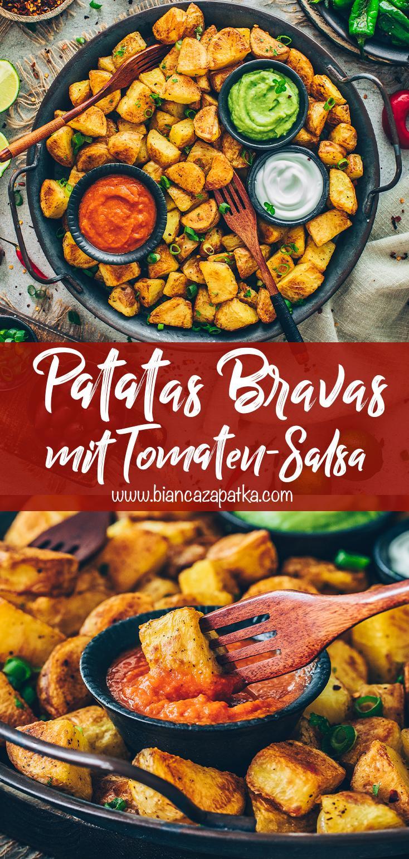 Patatas Bravas mit Salsa und Aioli