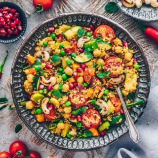 Quinoa Veggie Stir Fry (Oriental Moroccan Style)