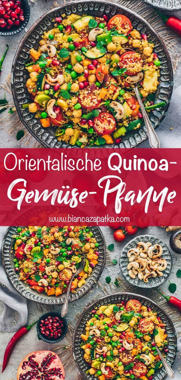 Quinoa-Gemüse-Pfanne mit Kichererbsen (Orientalisch)