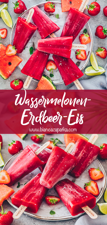 Wassermelonen-Erdbeer-Eis