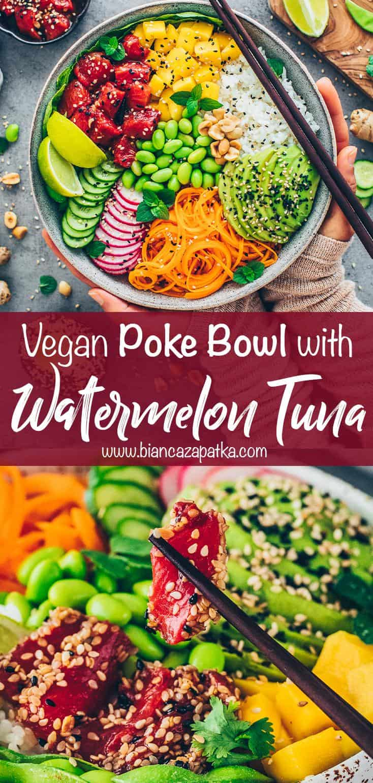 Watermelon Tuna Poke Bowl