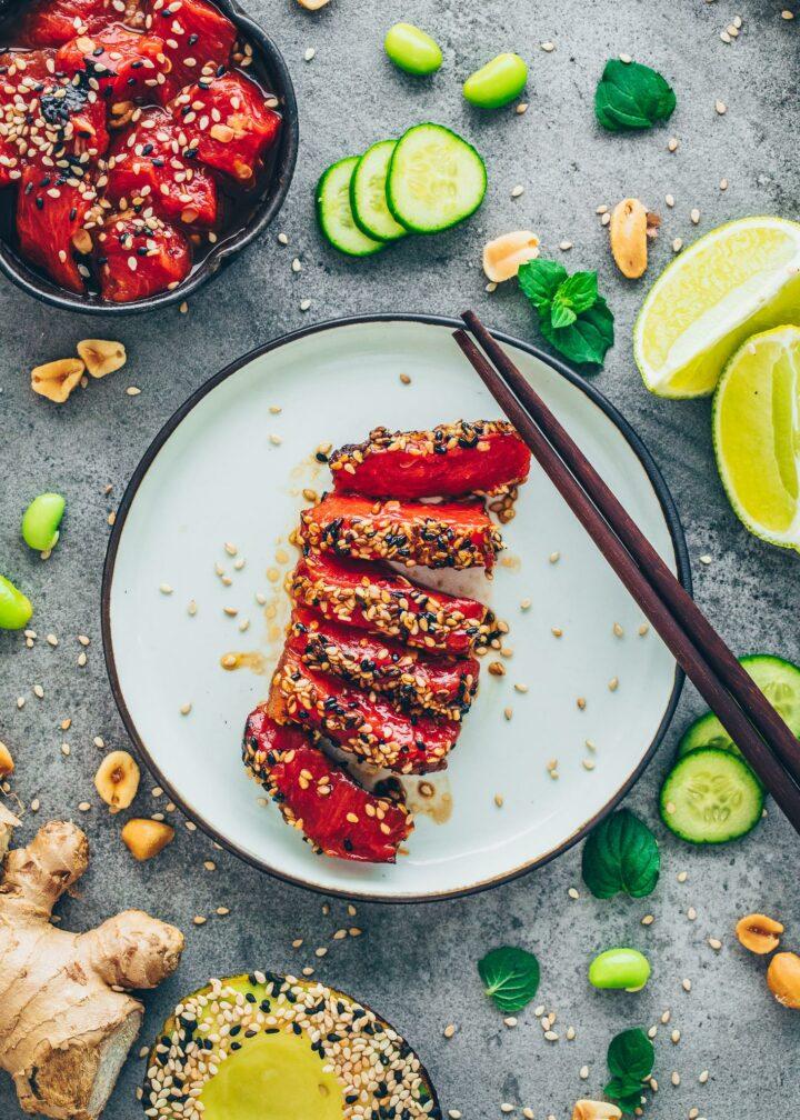 Vegan Watermelon Tuna Steak