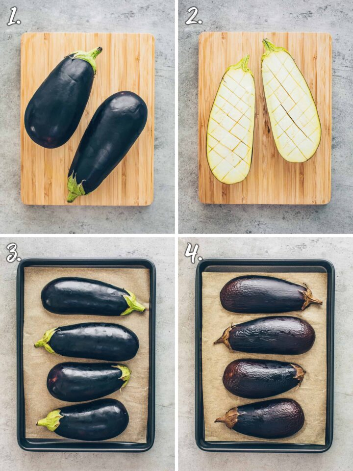 How to roast eggplant in the oven