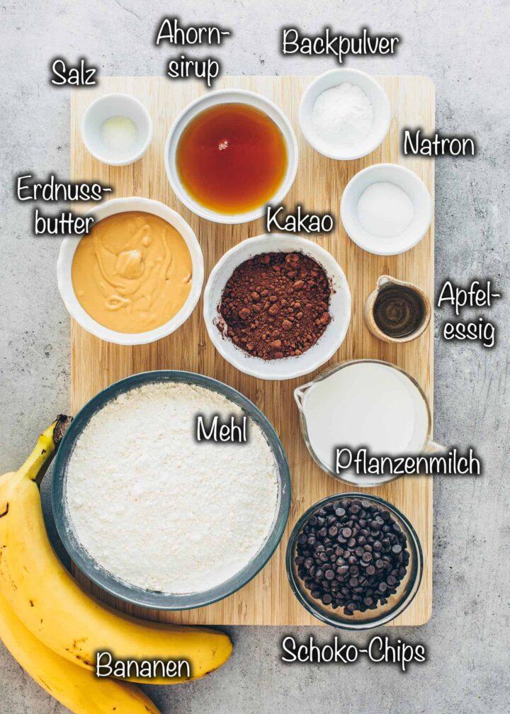 Zutaten für Bananenbrot