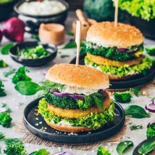 Brokkoli Burger mit Veganer Remoulade