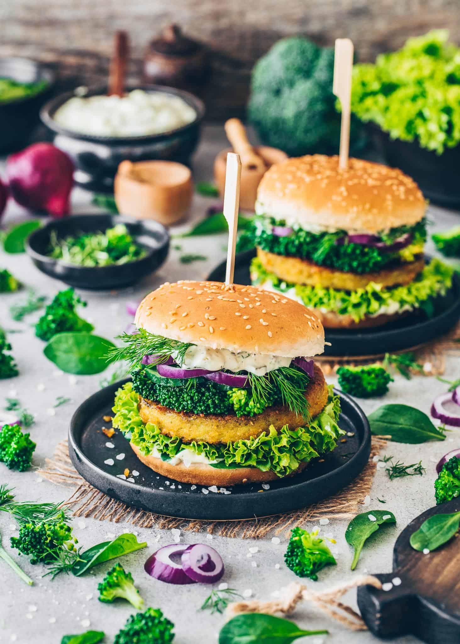 Broccoli Burger with Vegan Remoulade