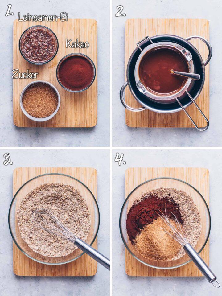Haselnuss Schokoladen Brownies selber machen
