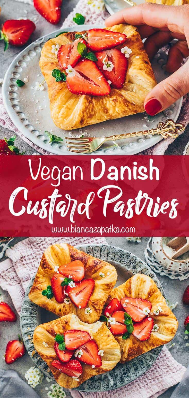 Puff Pastry Danish with Vanilla Custard and Strawberries