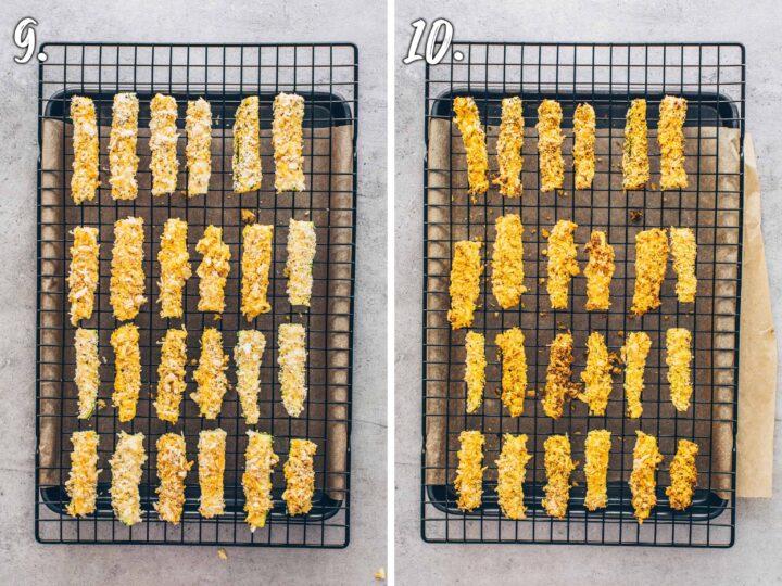 Zucchini Pommes aus dem Ofen