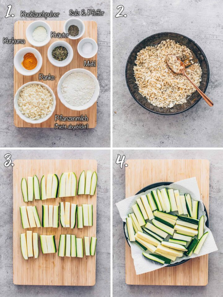 Zucchini Pommes selber machen
