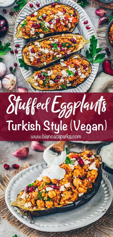 Stuffed Eggplants with Bulgur (Turkish Style)